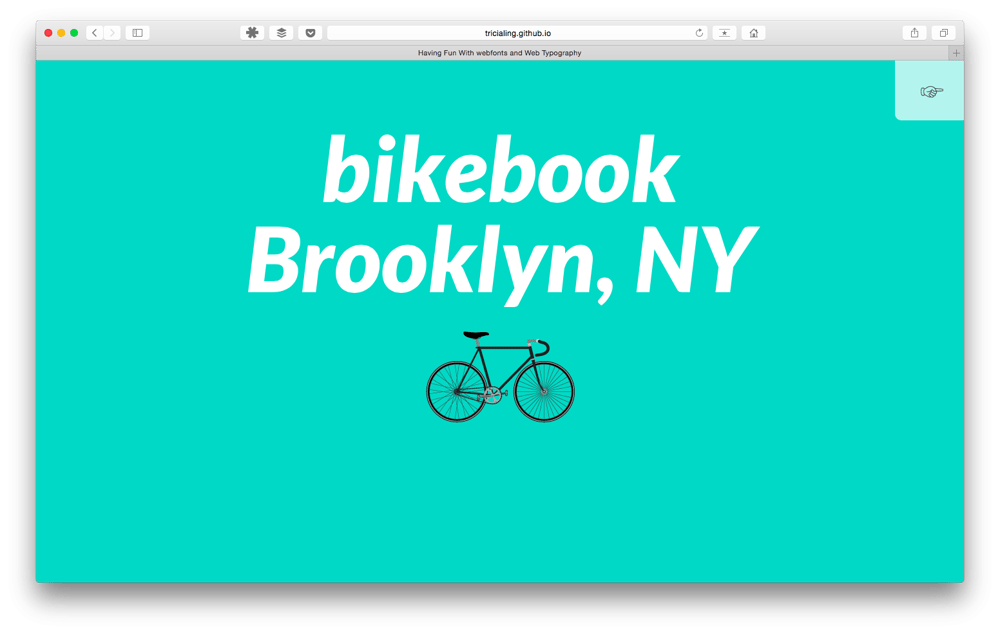 Playing with Bikebook typography  - image 1 - student project
