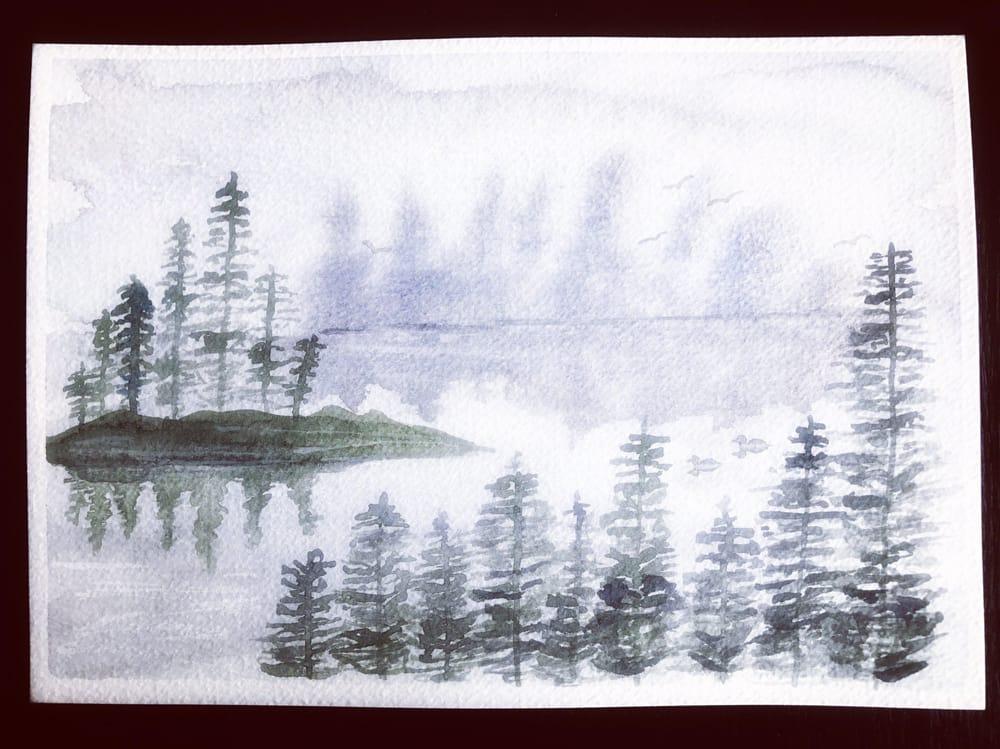 Misty Lake Scene - image 1 - student project