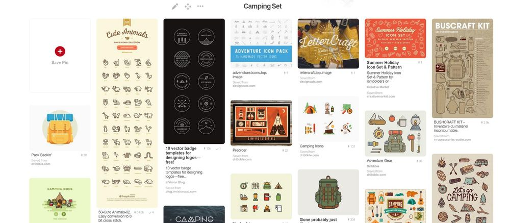 Outdoor Camping Icon Set Cover - image 1 - student project