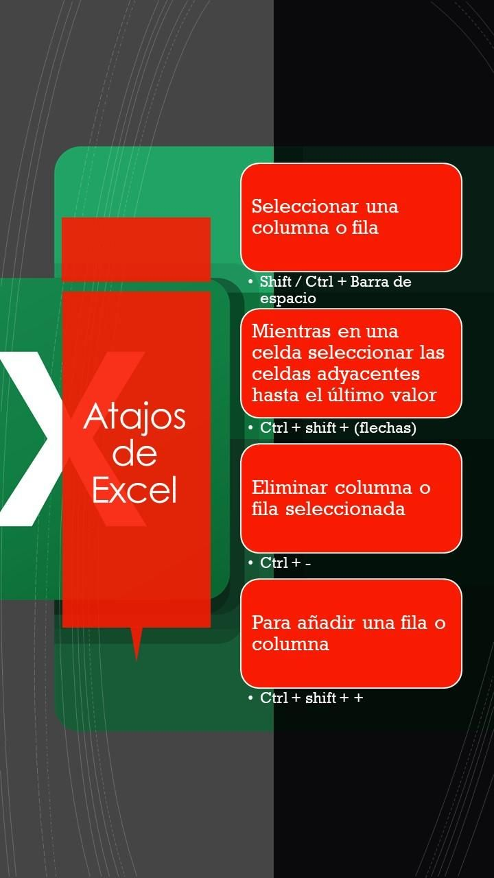 Keyboard shorcuts Excel-Windows - image 2 - student project