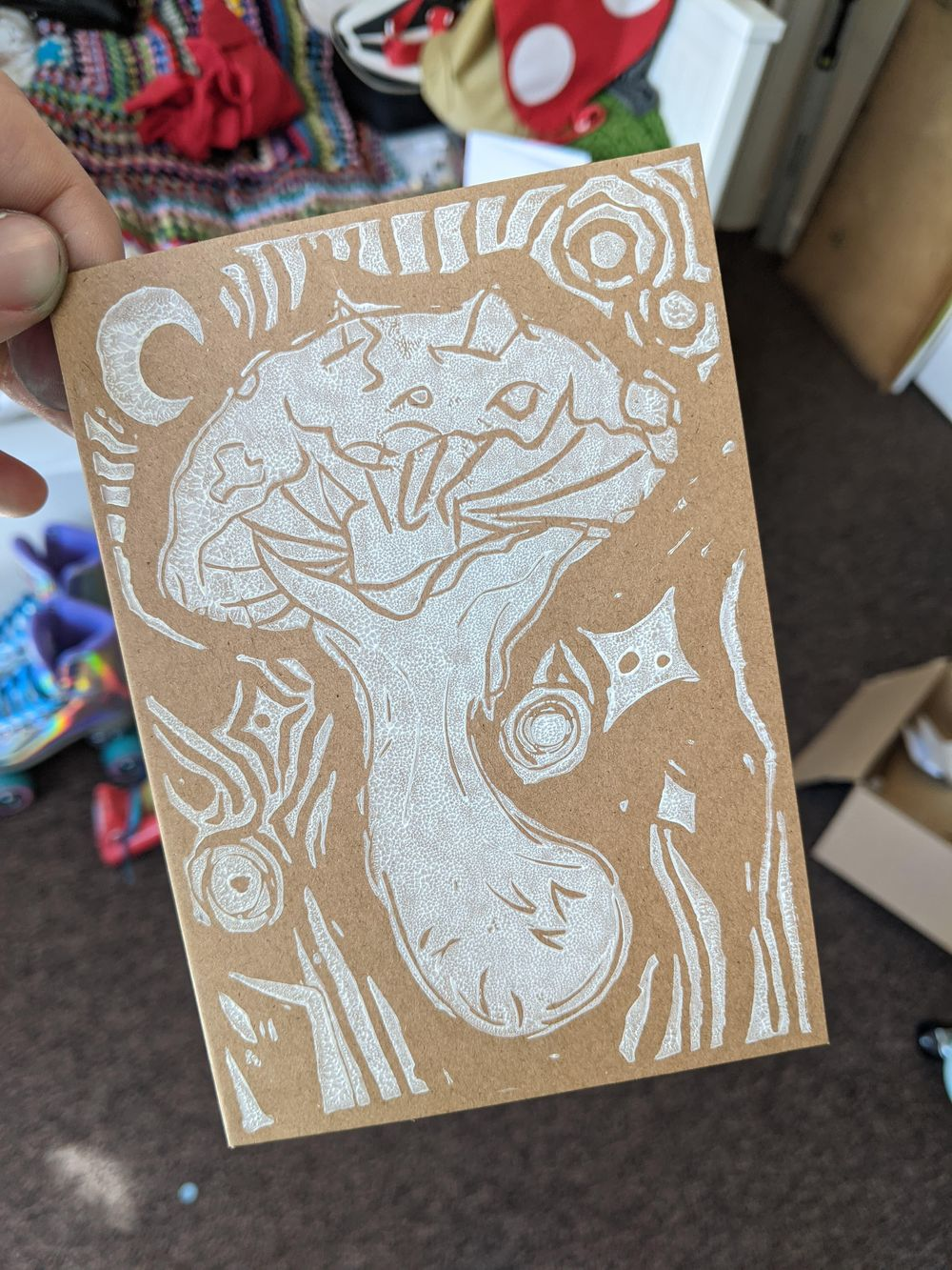 Amy's Mushroom Card - image 2 - student project