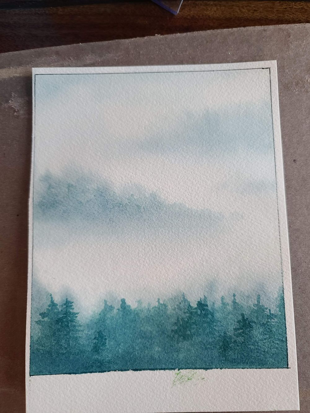 Misty Mountain Trees - image 1 - student project
