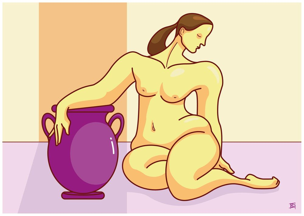 Woman with vase - image 2 - student project