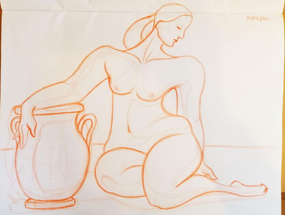 Woman with vase - image 1 - student project