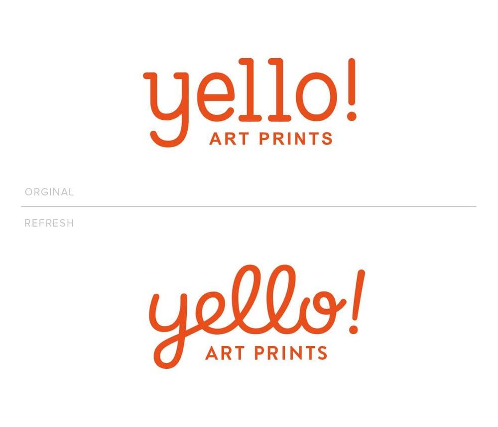 Yello! Art Prints Logotype - image 6 - student project