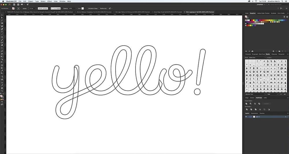 Yello! Art Prints Logotype - image 4 - student project