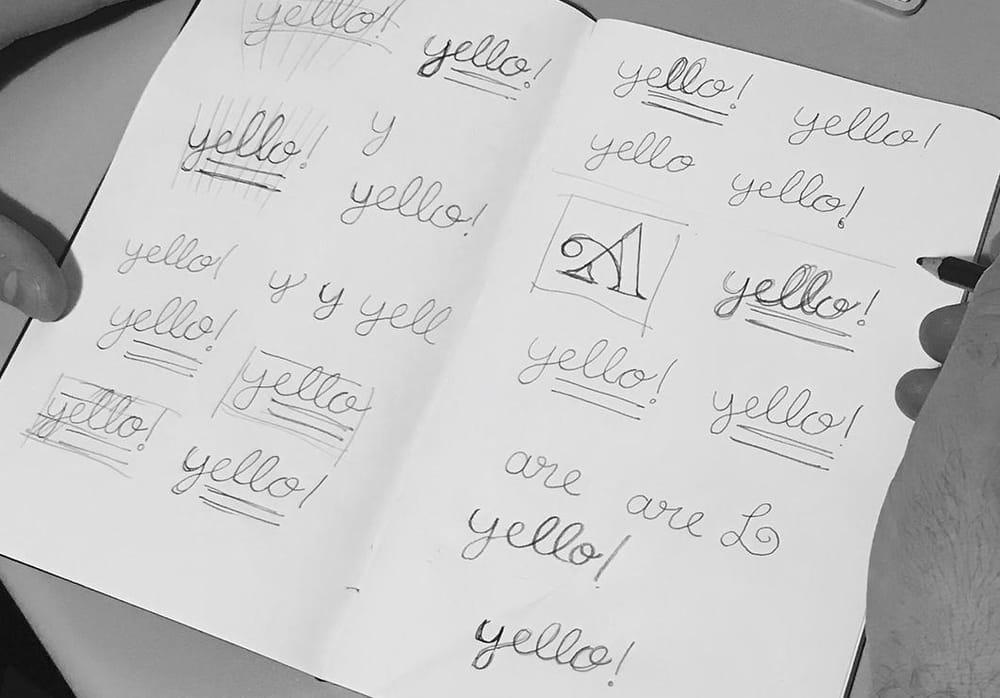 Yello! Art Prints Logotype - image 2 - student project