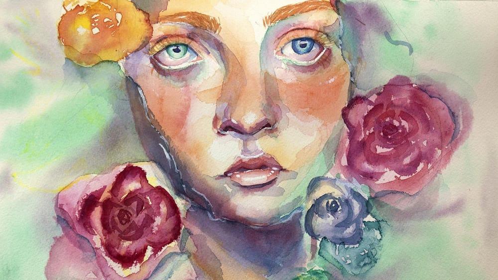 Watercolor Portraits - Teacher Project - image 1 - student project