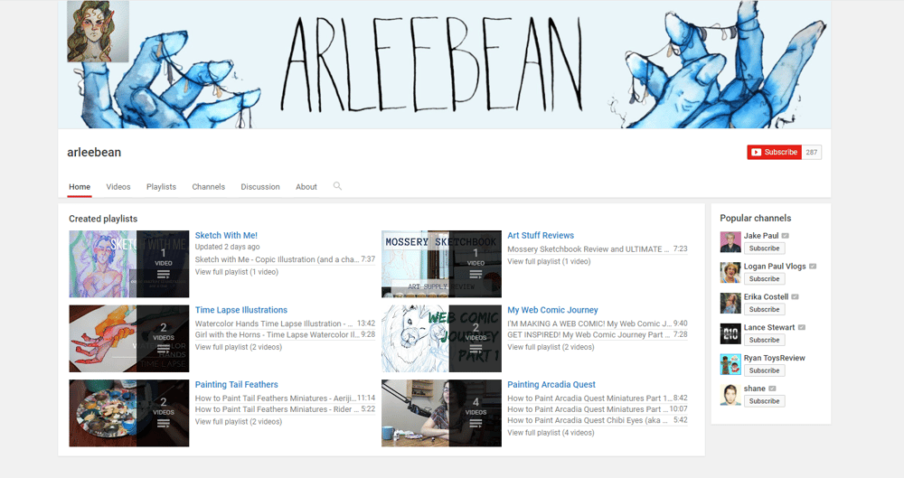 arleebean Art Channel - image 1 - student project