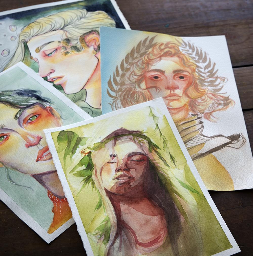 Watercolor Portraits - Teacher Project - image 2 - student project