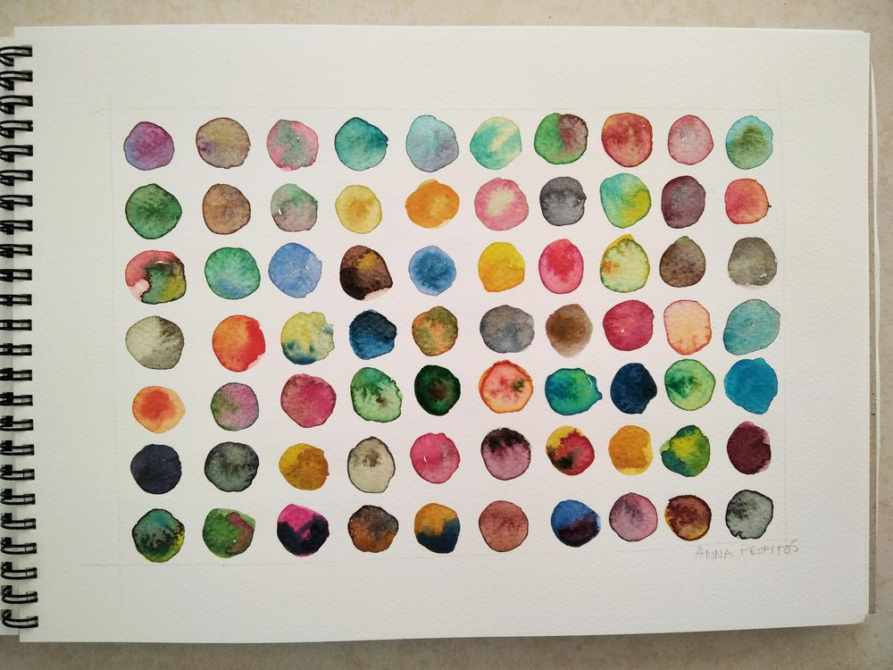 Watercolor magic: color mixing - image 2 - student project