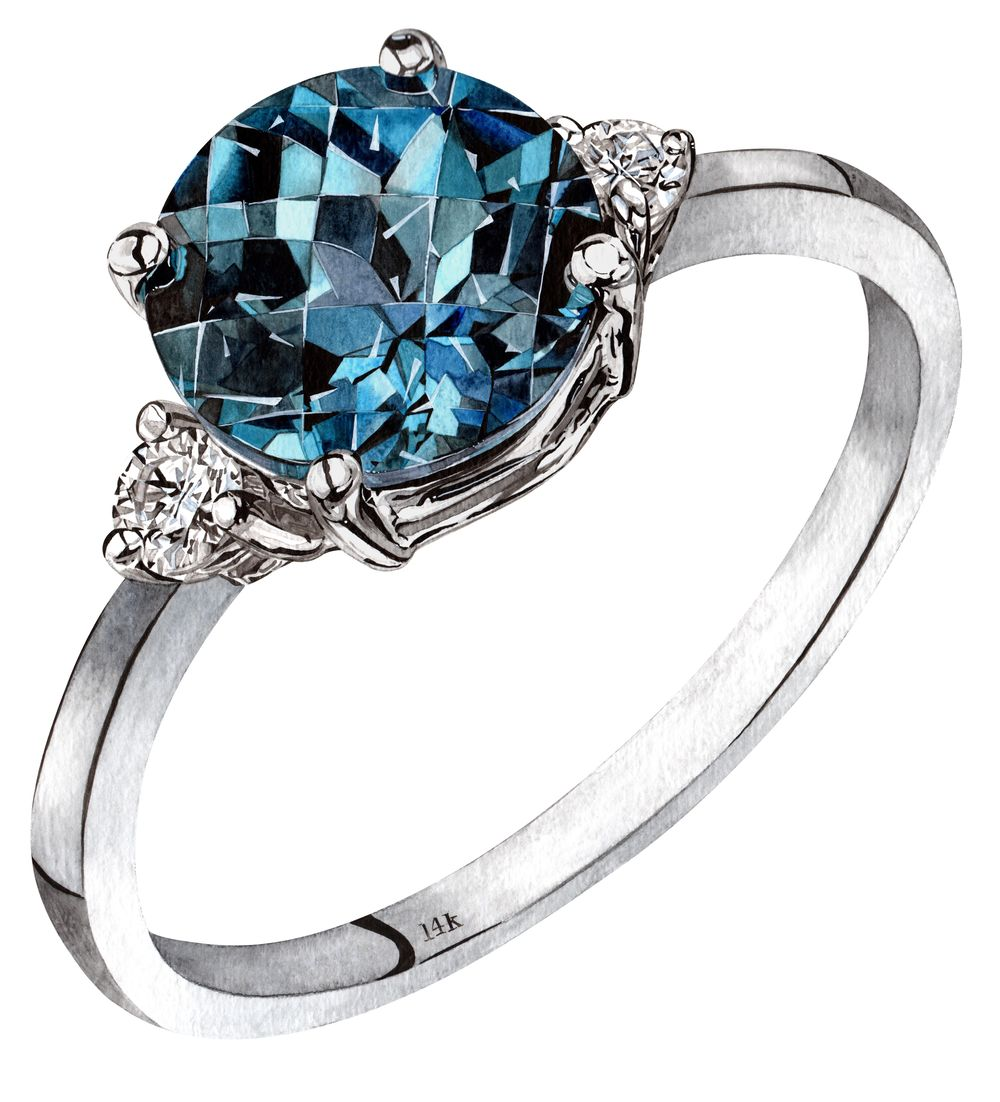 Sapphire Ring - image 1 - student project
