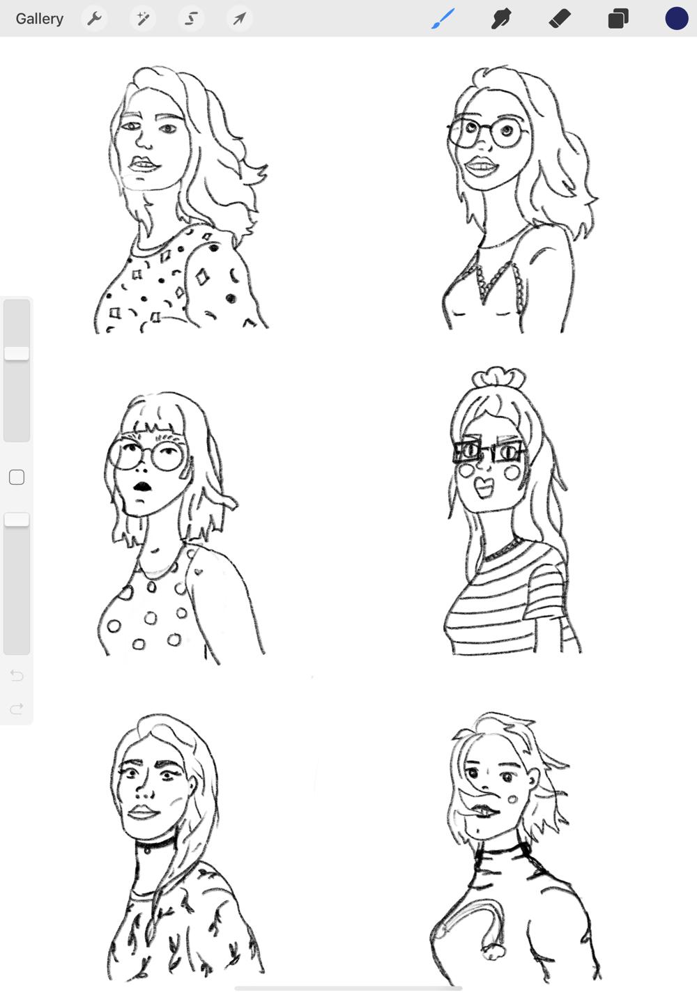 Exploring portrait illustration - image 5 - student project