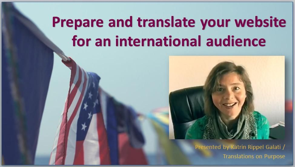 Welcome to my class Prepare and translate your website for an international audience - image 1 - student project