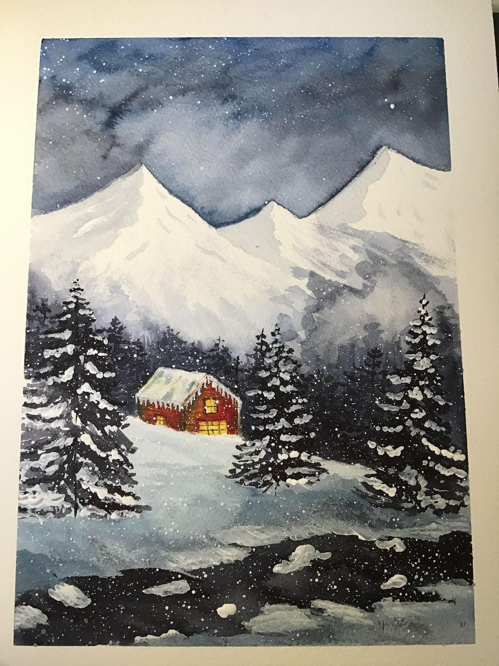 My snowy cabin - image 1 - student project