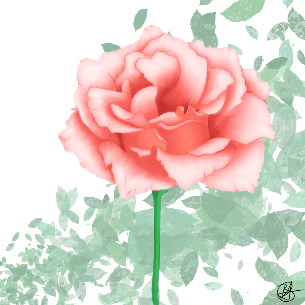 Painterly flower - image 1 - student project
