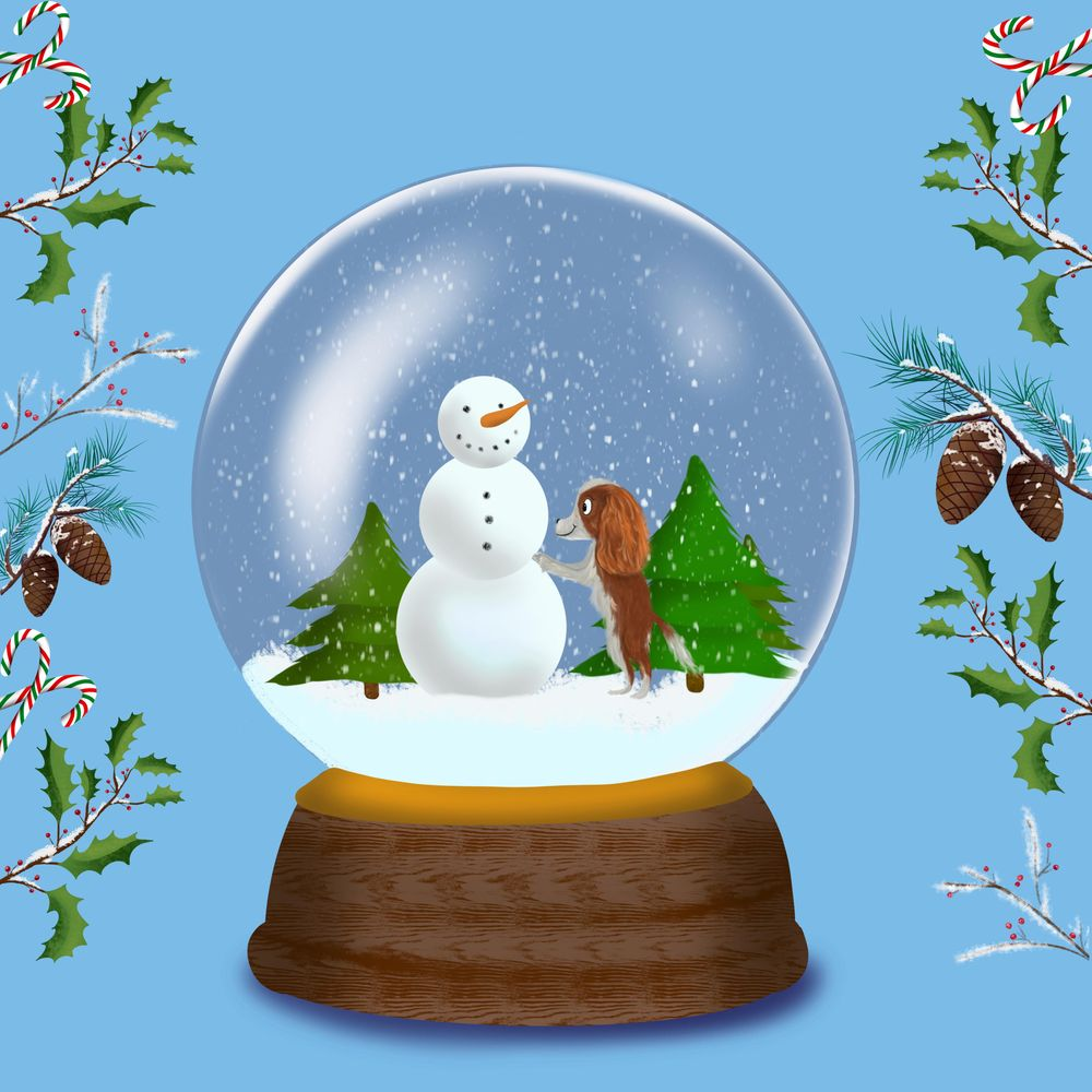 Cavalier King Charles Snow Globe - image 1 - student project