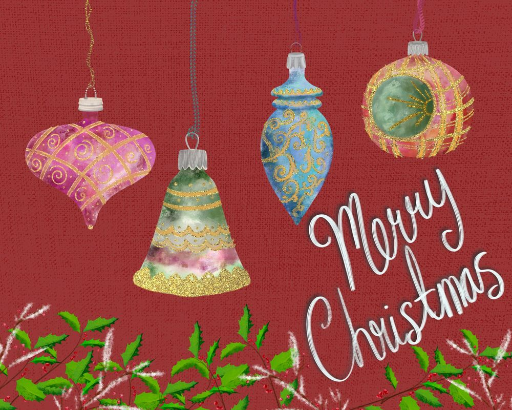 Vintage Christmas Ornaments With Sparkle - image 3 - student project