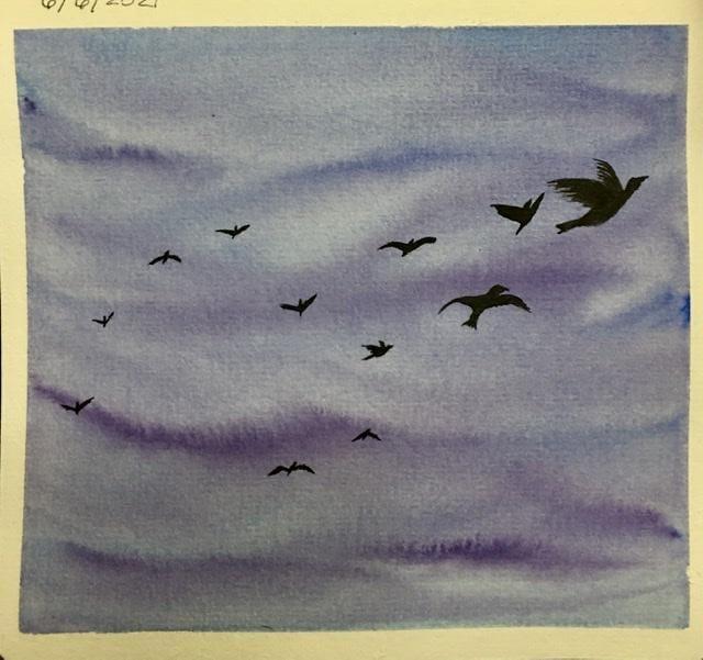 Watercolor Bird Practice - image 1 - student project