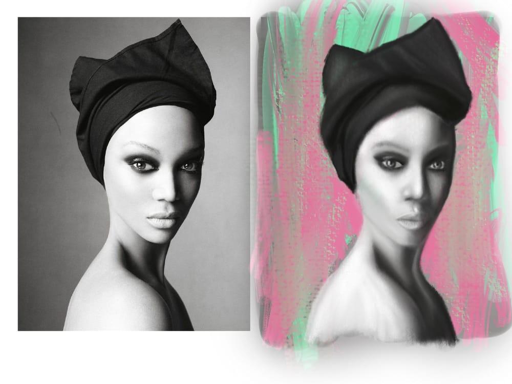 digital portrait with procreate - image 2 - student project