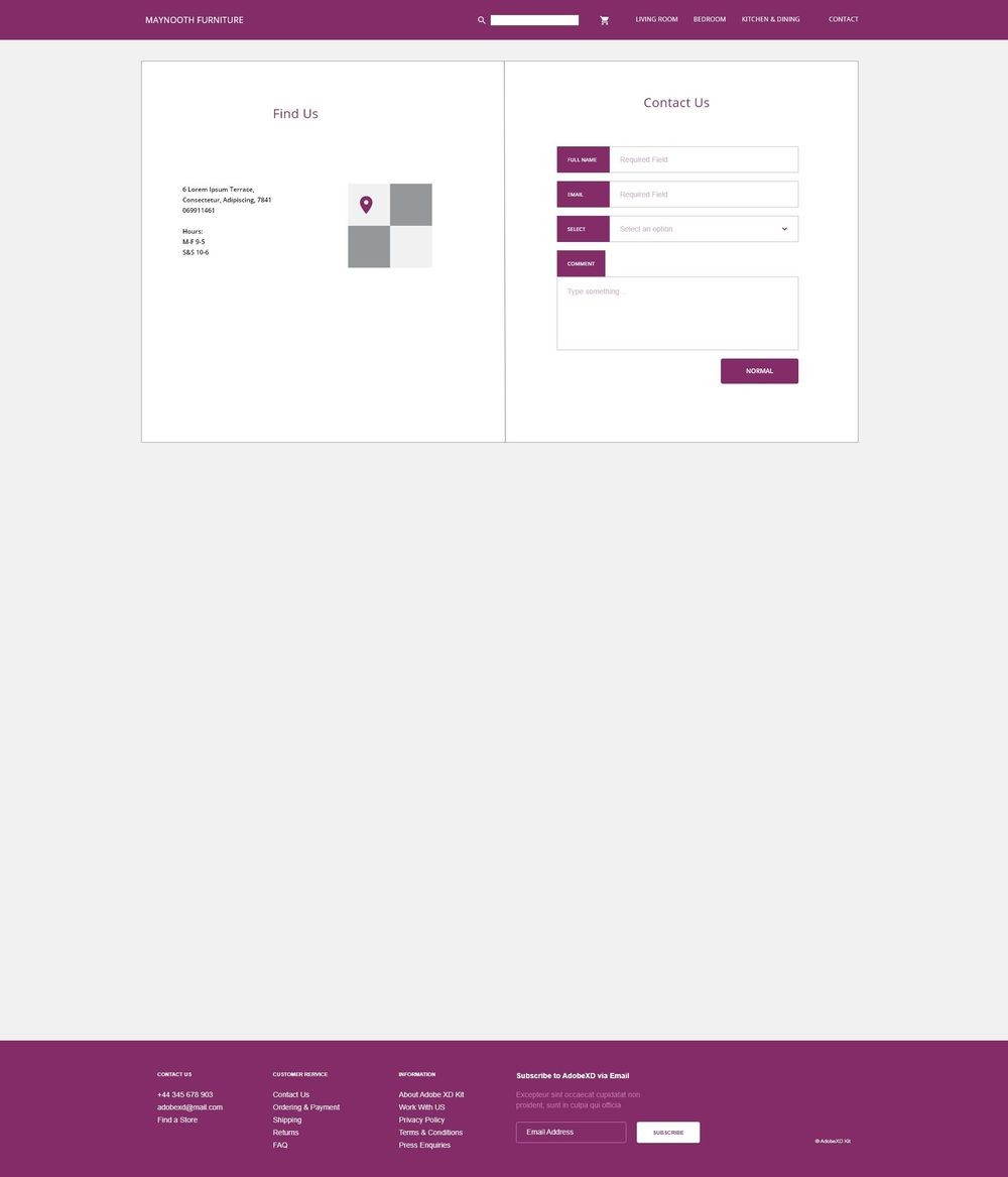 Class Project 1 - Maynooth Wireframes - image 2 - student project