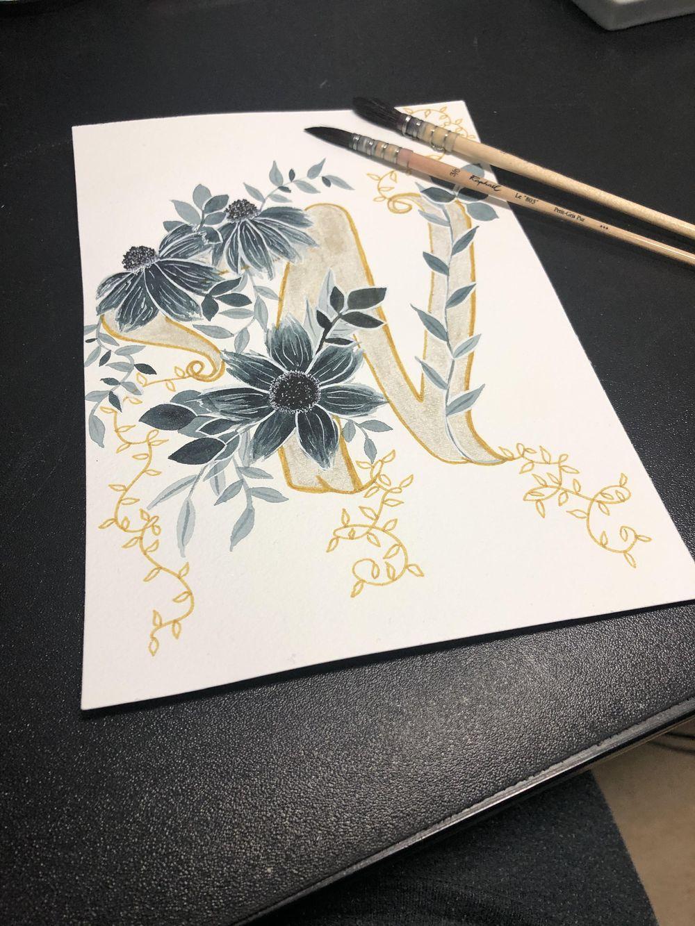Botanical Monogram - image 1 - student project