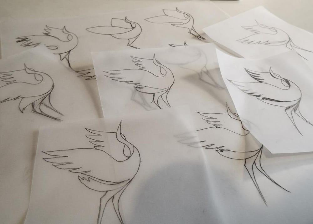 Dancing crane mark - image 2 - student project