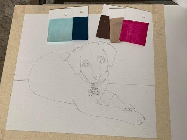 Puppy Portrait - Princess Leia - image 2 - student project