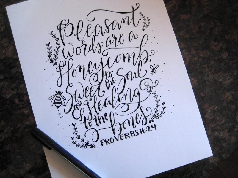 Pleasant Words are a Honeycomb - image 3 - student project