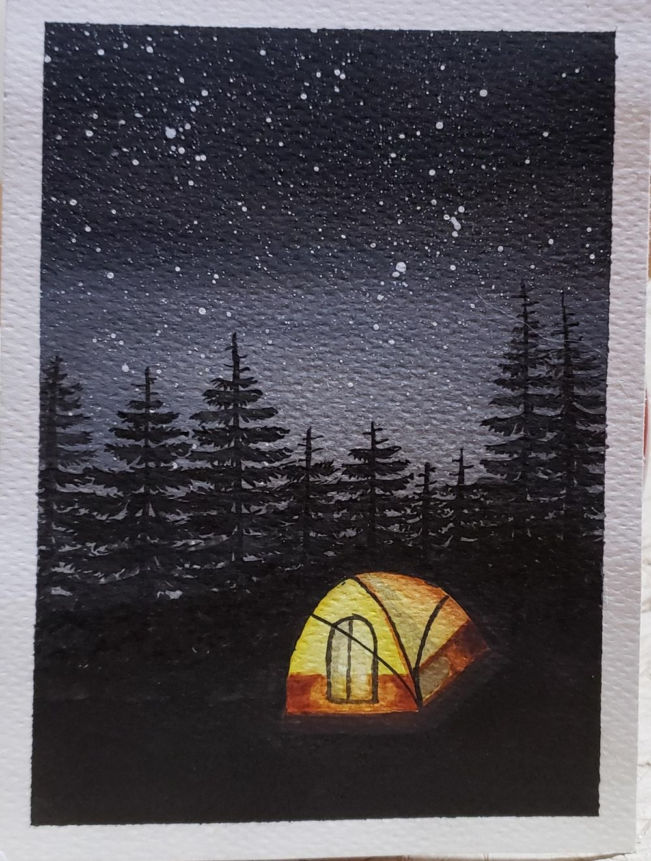 Campamento bajo las estrellas y Noche de luna llena - image 3 - student project