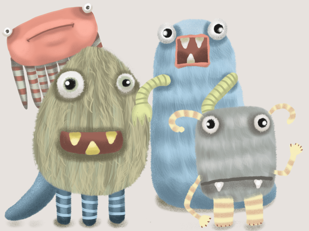 Three Little Monsters - image 1 - student project