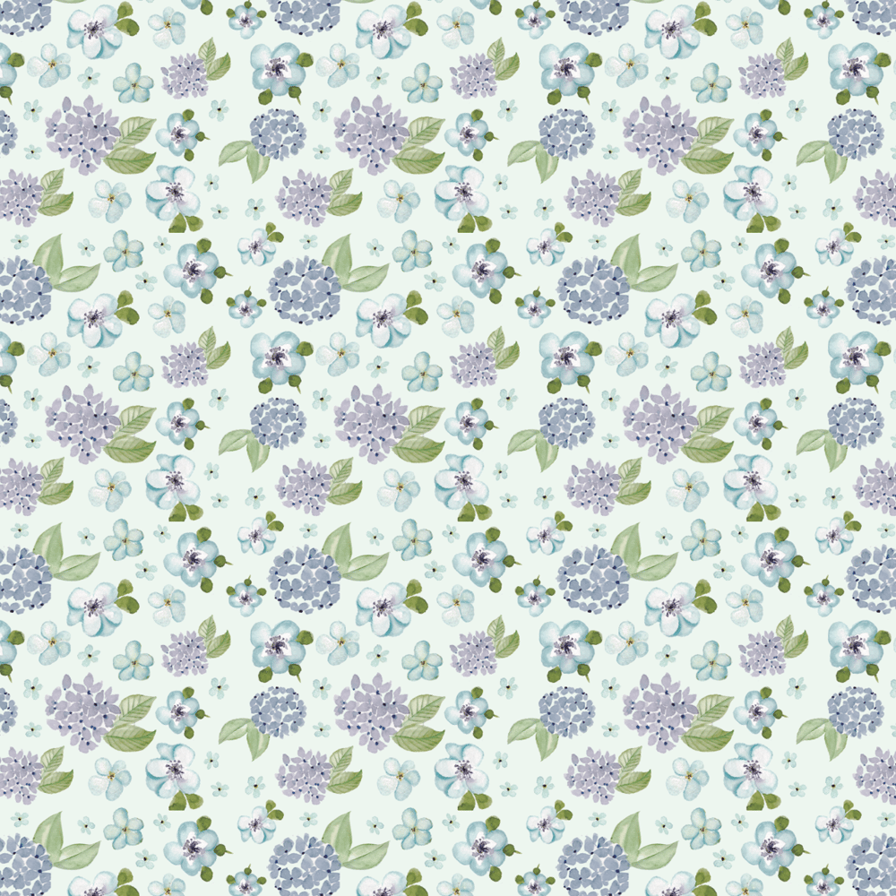 Blue Floral Pattern - image 3 - student project