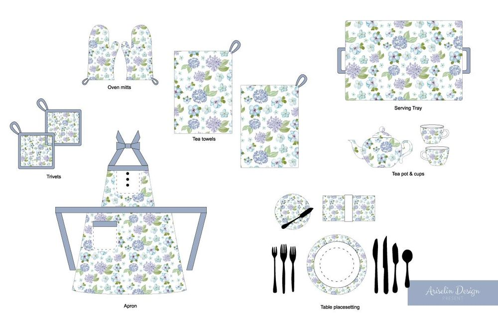 Blue Floral Pattern - image 4 - student project