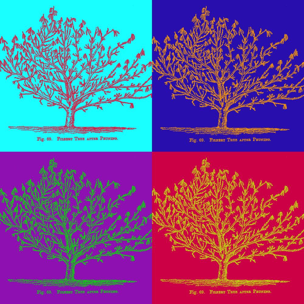 Duotone Vintage Tree Illustration - image 1 - student project