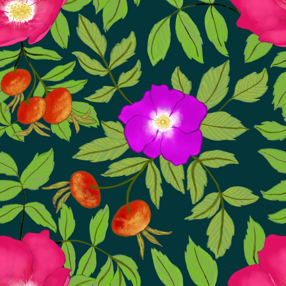 Rosa rugosa pattern - image 4 - student project