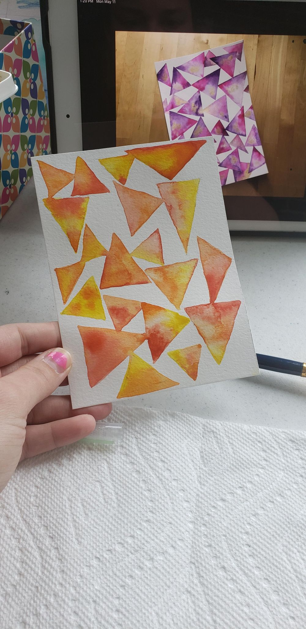 Watercolor backgrounds - image 1 - student project