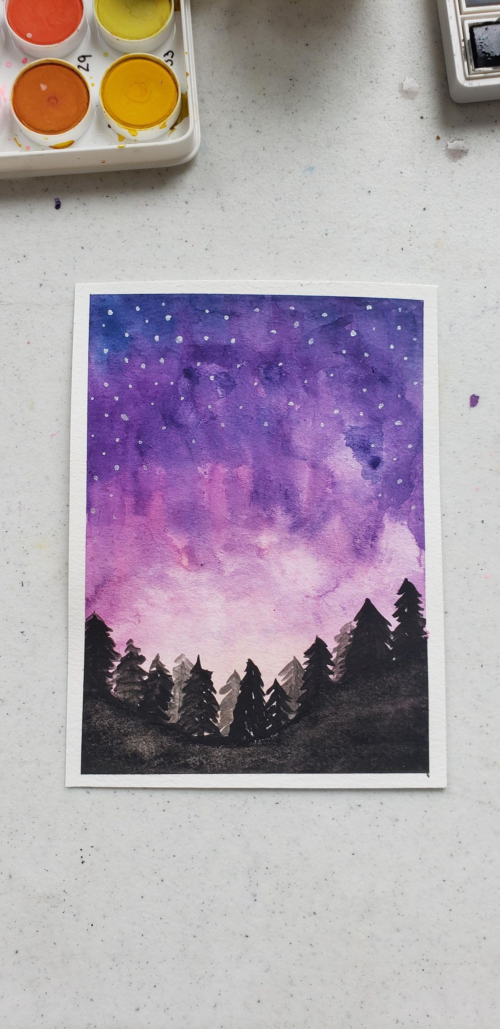 Watercolor backgrounds - image 2 - student project