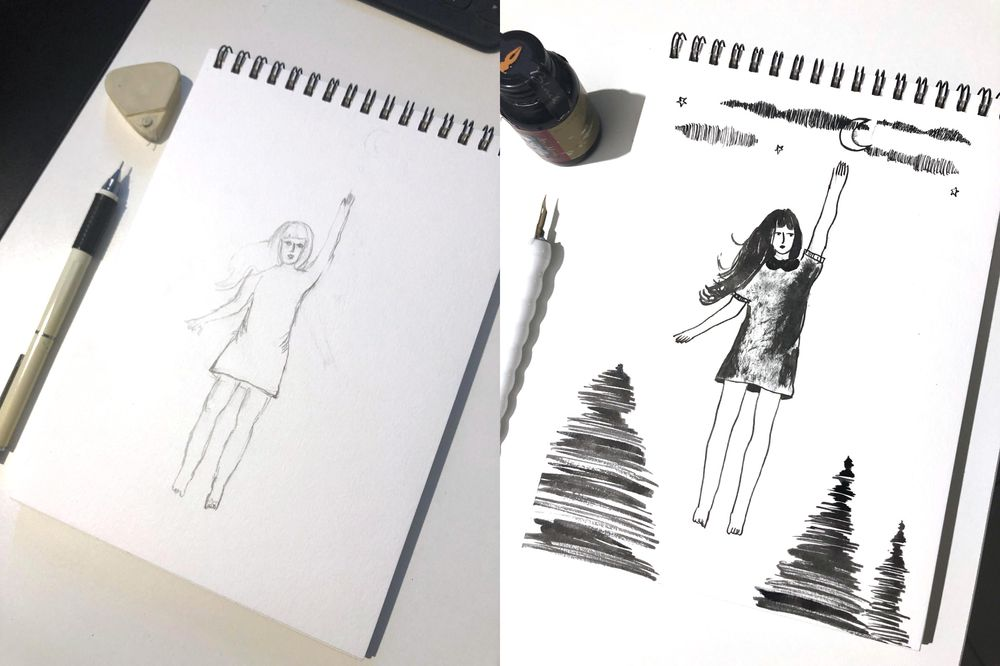 Experimenting with Brush and Pen - image 2 - student project
