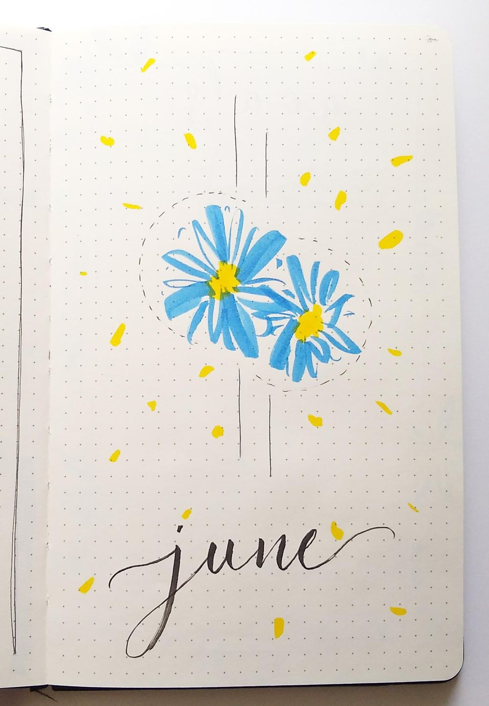 June Bullet Journal Layout - image 1 - student project