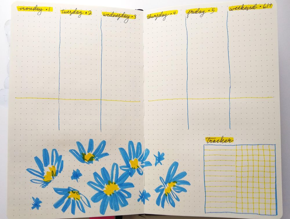 June Bullet Journal Layout - image 3 - student project
