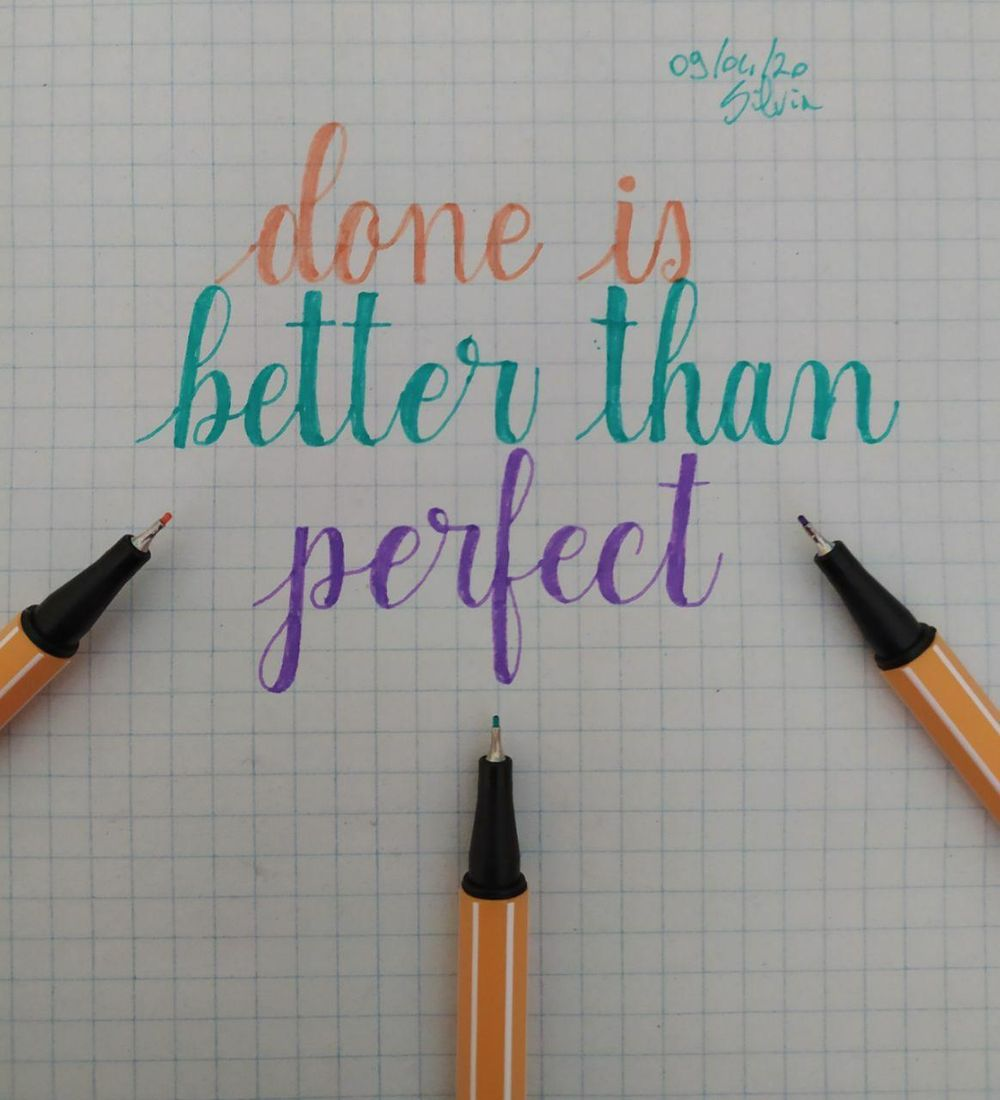 Done is better than perfect - image 1 - student project