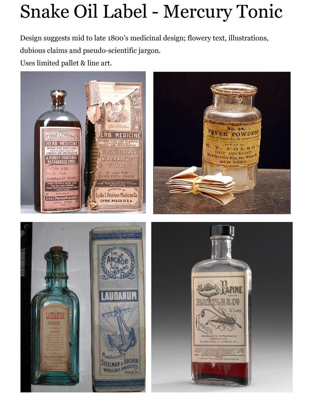Snake Oil - Mercury Tonic - image 1 - student project