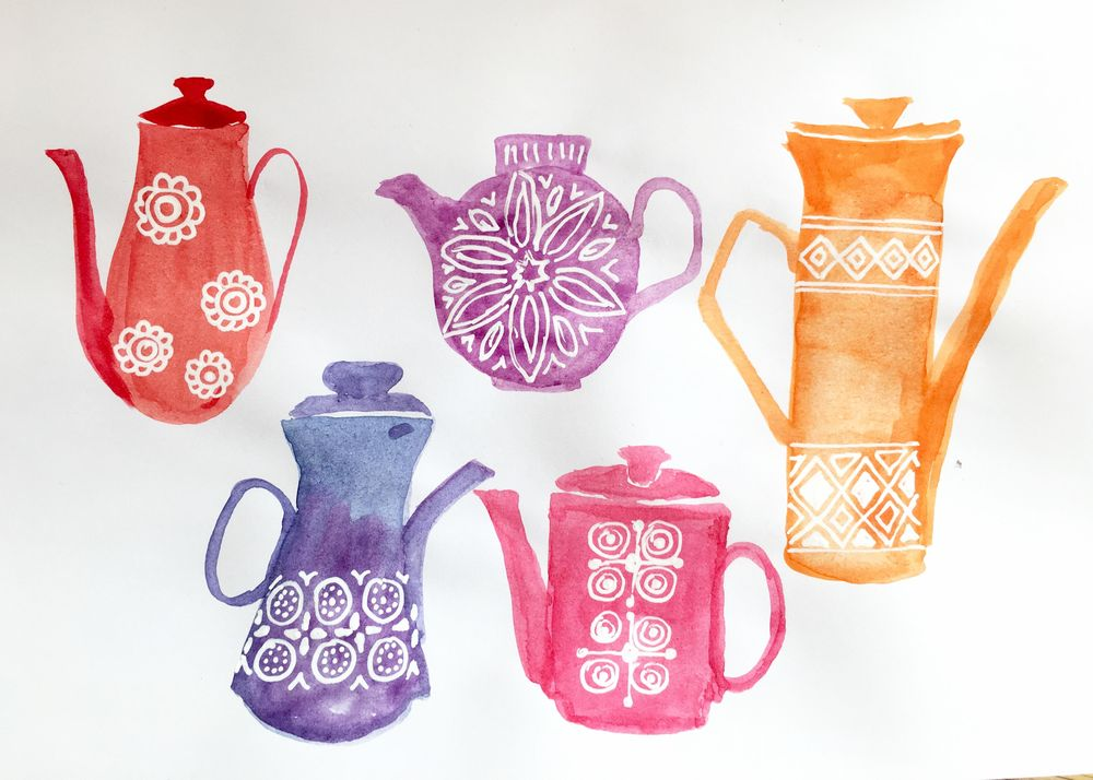 Here are my 70s coffee pots - image 1 - student project