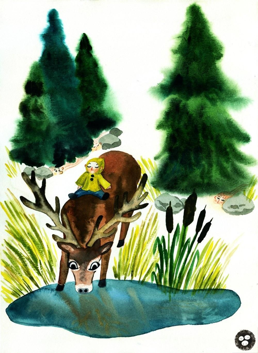 Whimsical Animals with Watercolors - SAMPLE PROJECT - image 3 - student project
