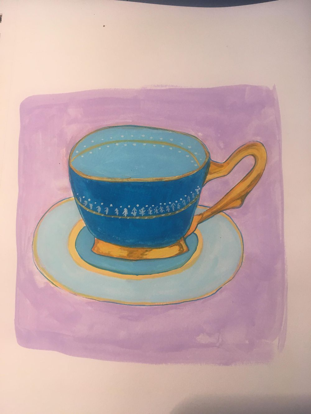 Gouache cups - image 1 - student project