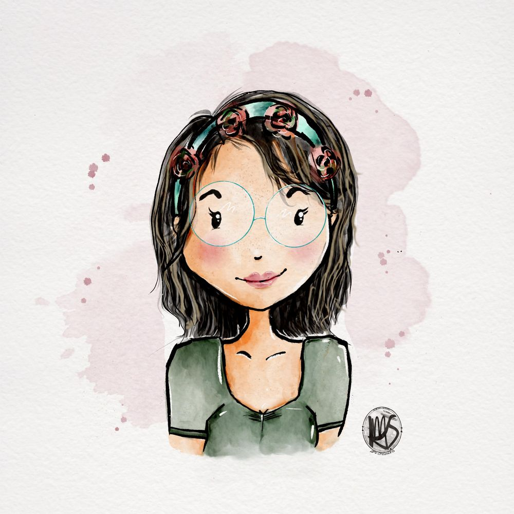 """Stylized """"easy fun"""" Portrait - image 1 - student project"""