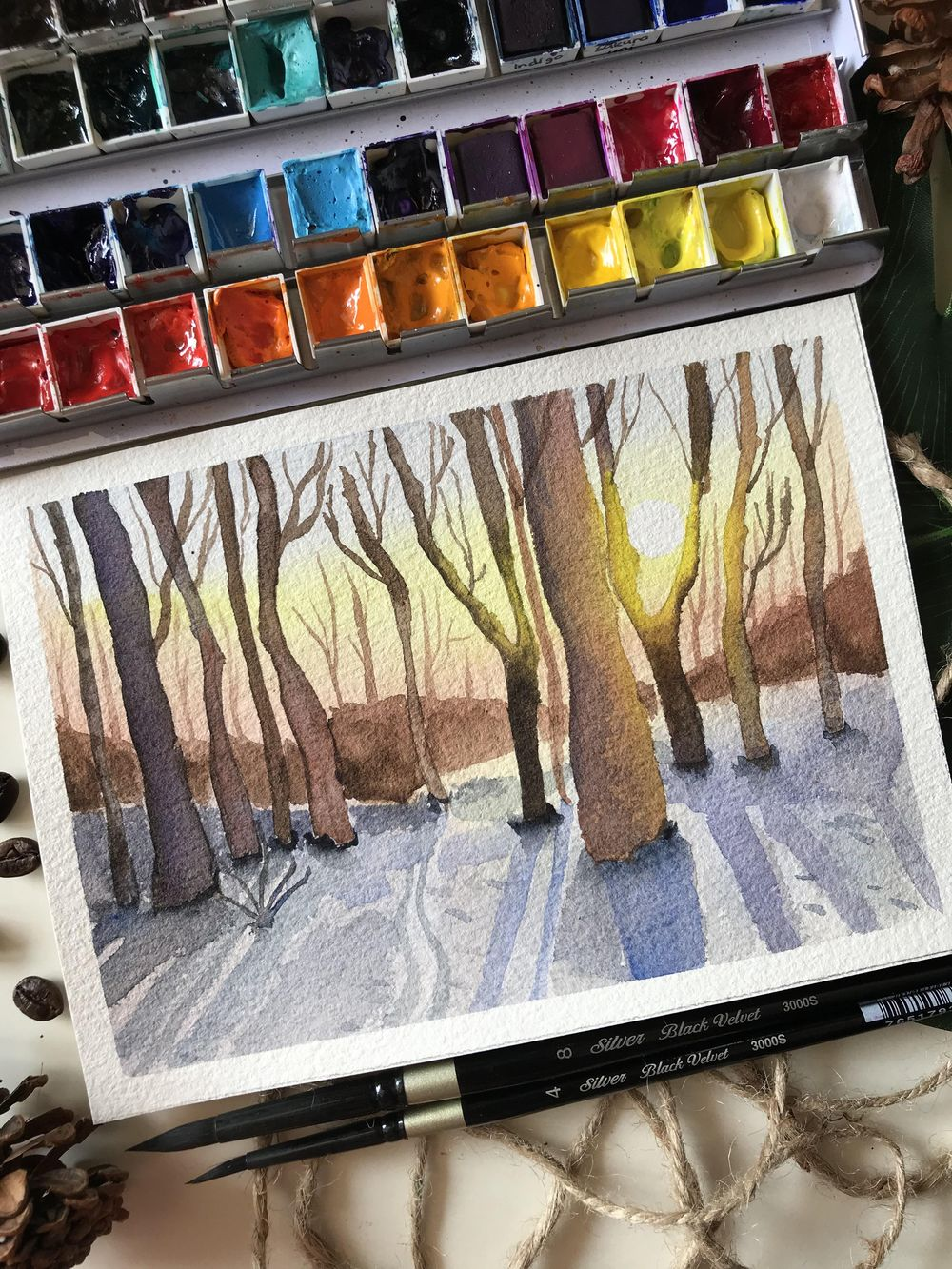 Winter Forest Sunrise - image 1 - student project