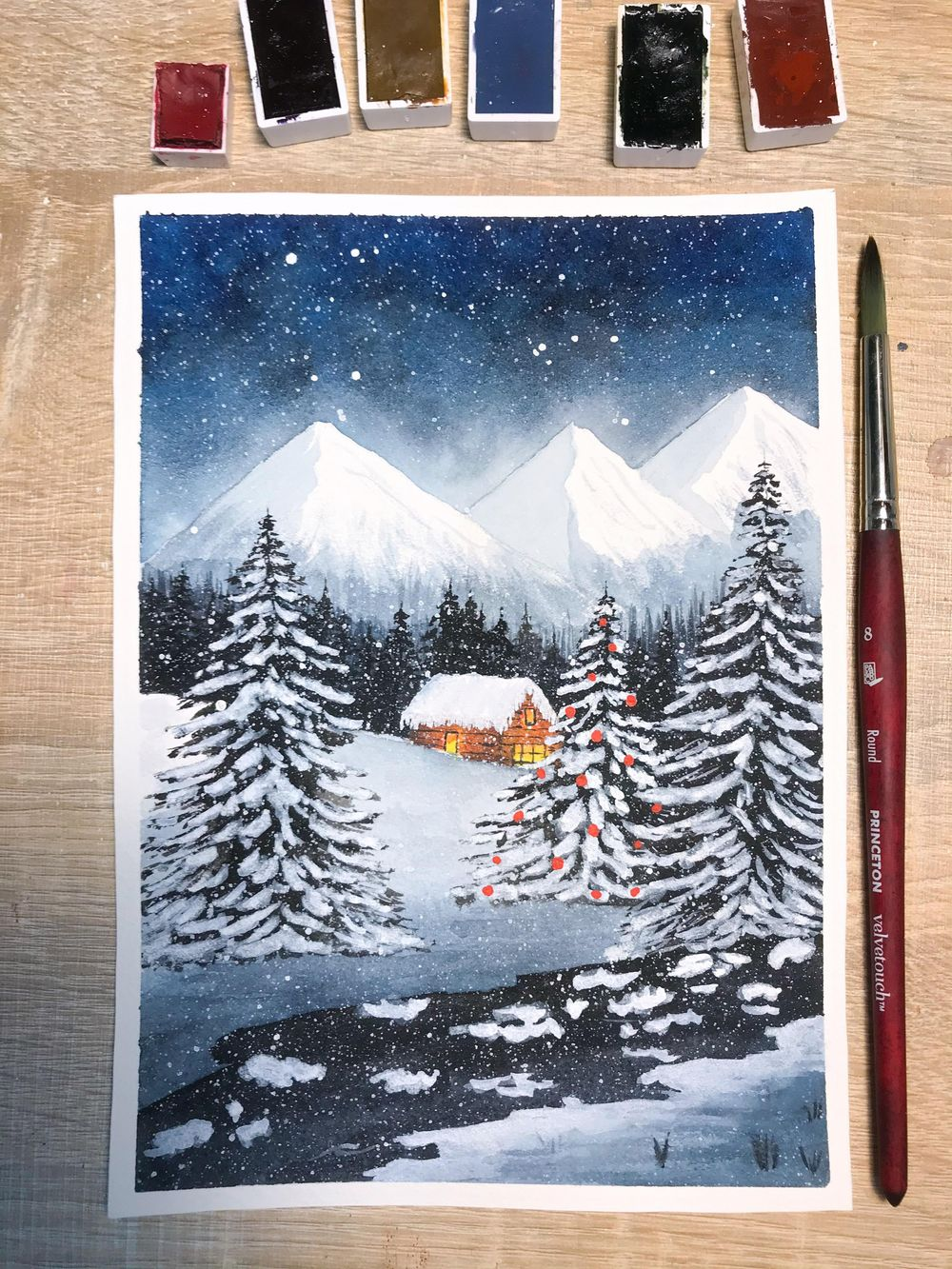 snowy christmas night - image 1 - student project