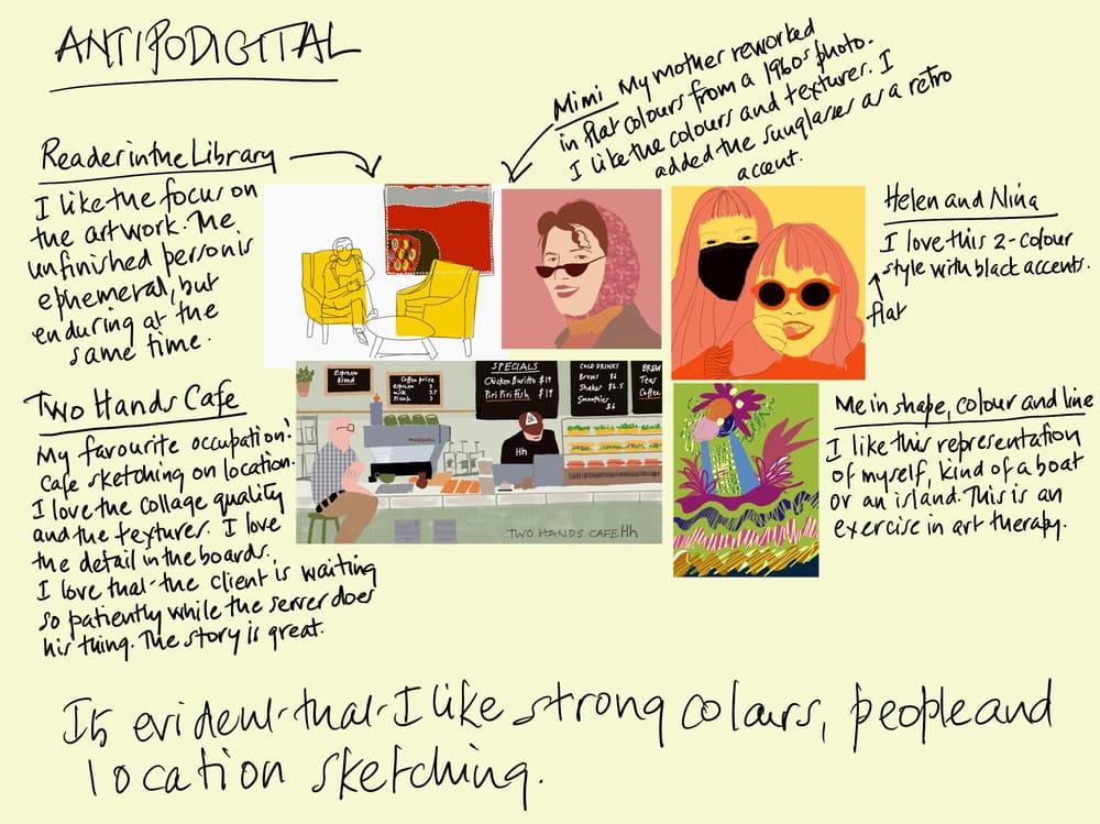 David Hockney iPad art inspiration - image 10 - student project