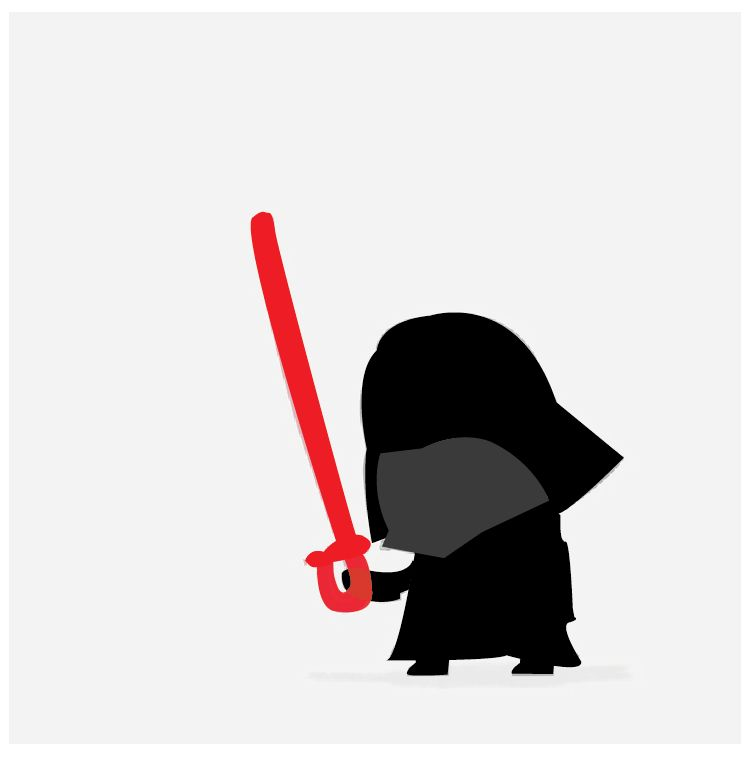 Teach me The Force*, Baby Darth. (*The Force is Illustrator, apparently.)  - image 2 - student project